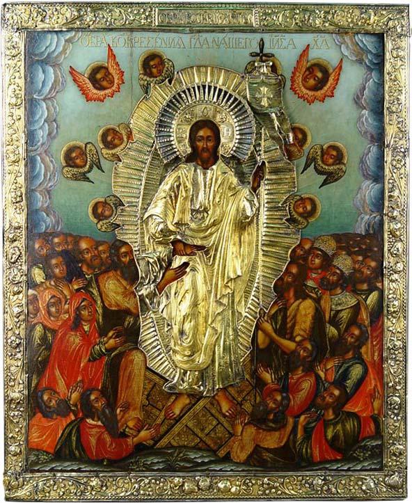 Купить икону воскресение христово в Москве выгодно   Антикварный салон «Дом  антиквара»